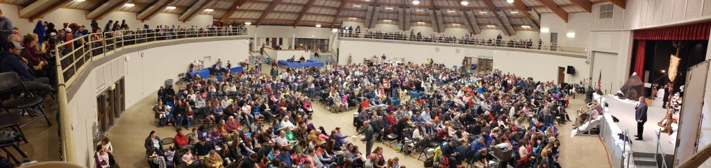 Panorama of crowd for Operation Arctic