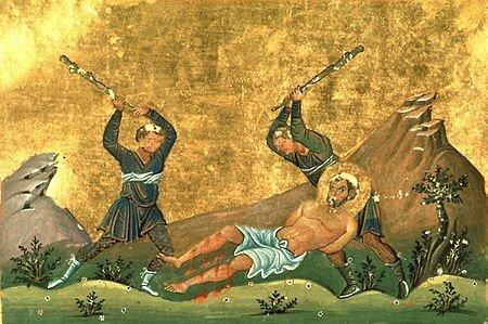 450px-Onesimus_of_Byzantium_(Menologion_of_Basil_II)